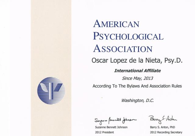 Certificado APA